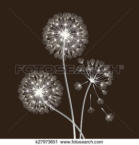Clipart of Blowball seeds. k27973651.