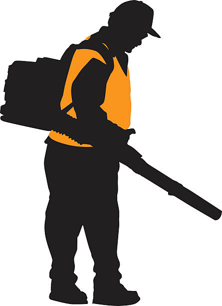 Best Leaf Blower Illustrations, Royalty.