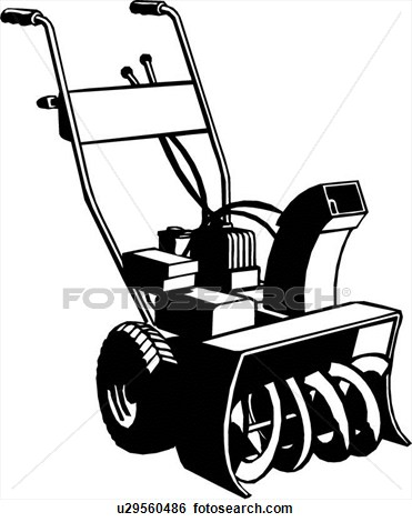 Snow Blower Clipart.
