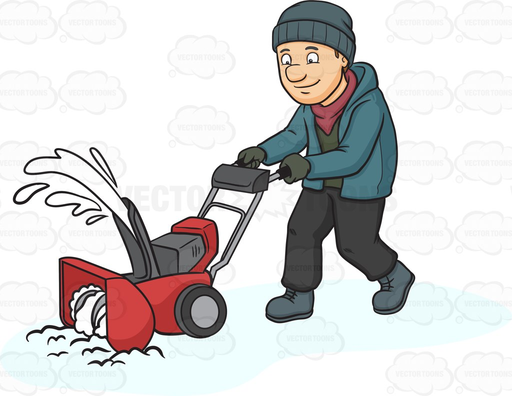 Snow blower clipart free.