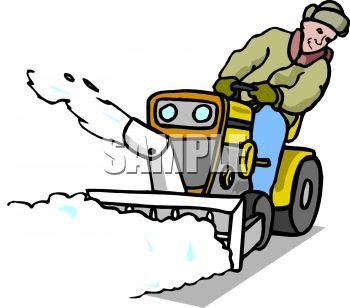 Snow blower clipart.