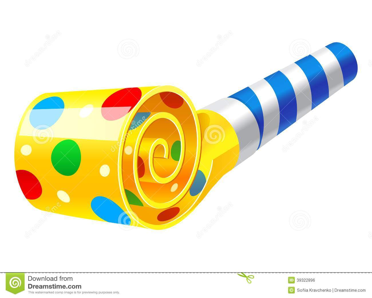 Clipart Party Blowers.