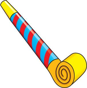Free clip art party horn.