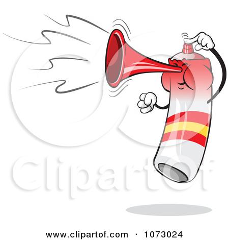 Clipart Spain Air Horn Waving.