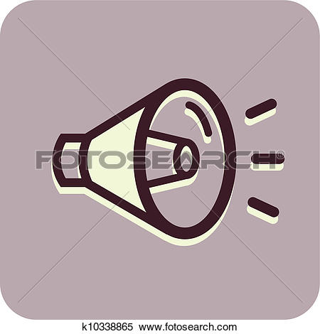 Stock Illustration of Illustration of a blow horn k10338865.