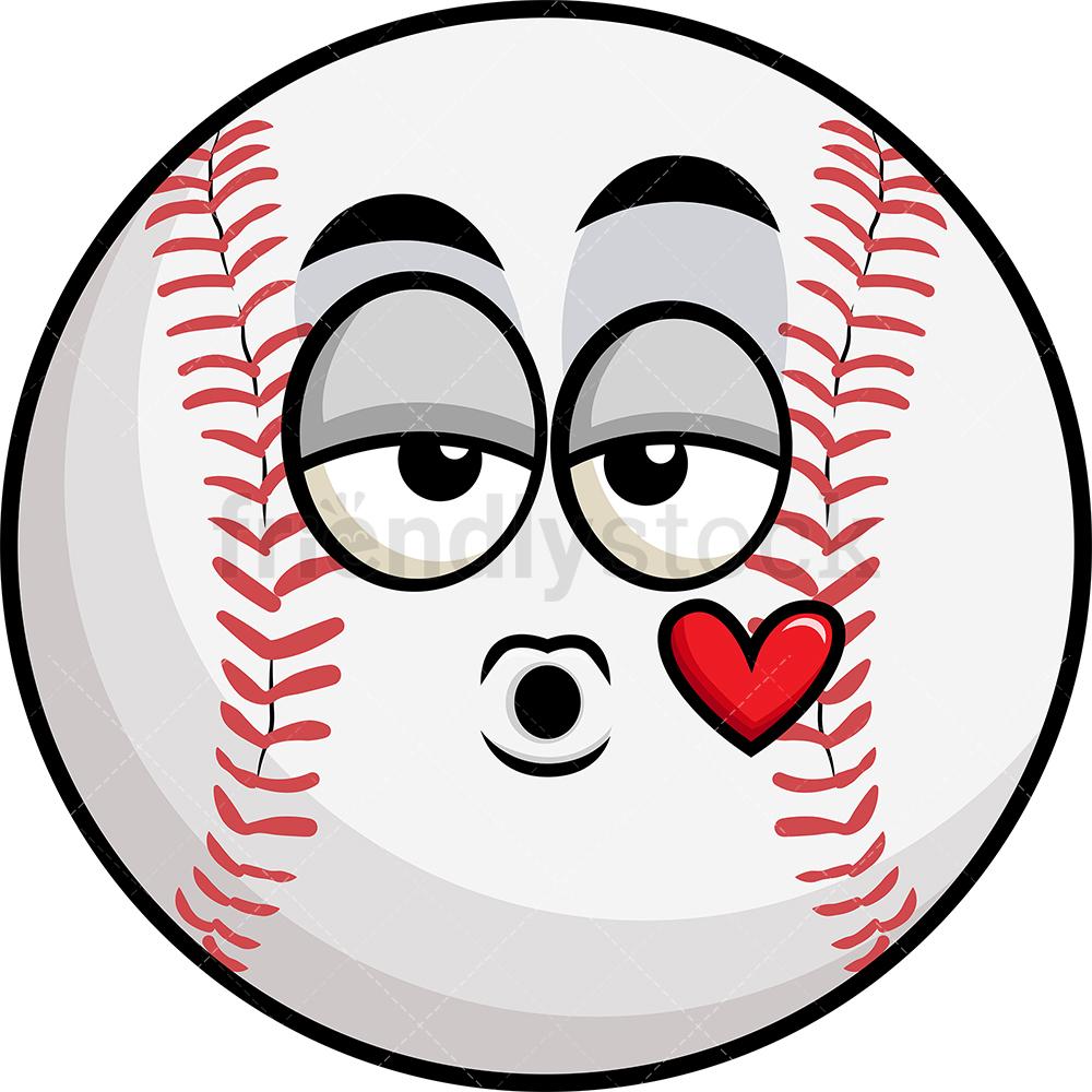 Baseball Blowing A Kiss Emoji.