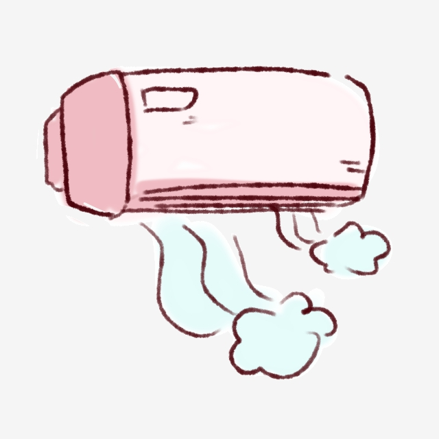 Cold Wind Blowing Air Conditioner Cartoon Hand Drawn, Cold Wind.