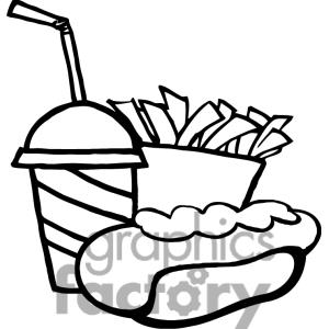 Plate Of Hot Food Clipart Black And White.