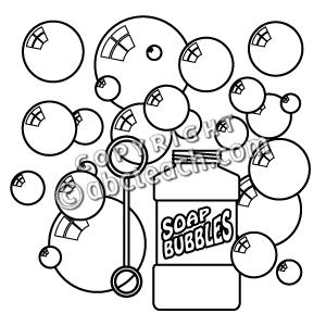 2940 Bubbles free clipart.