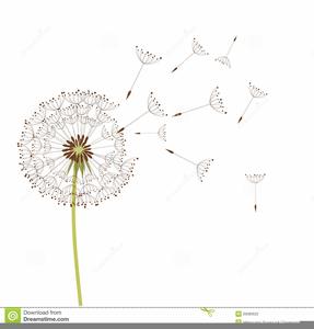 Free Blowing Dandelion Clipart.