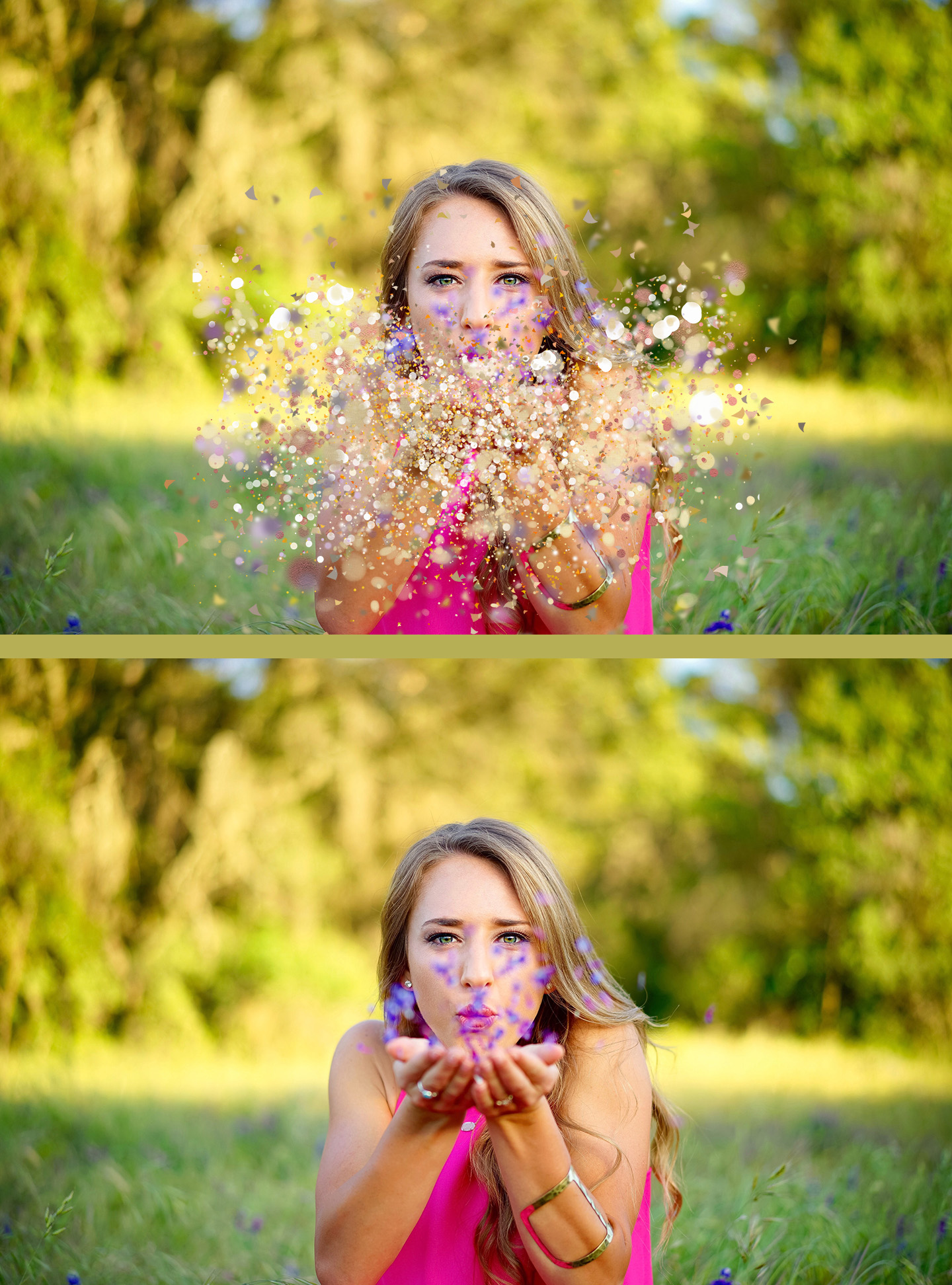 20 Blowing glitter Photoshop Overlays, PNG with transparent background,  easy to use, drag and drop, photoshop overlay, glitter, gold glitter.