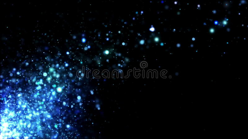 Glitter Blue Blowing Away..
