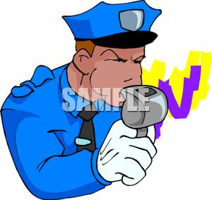 Blowing Whistle Clipart.