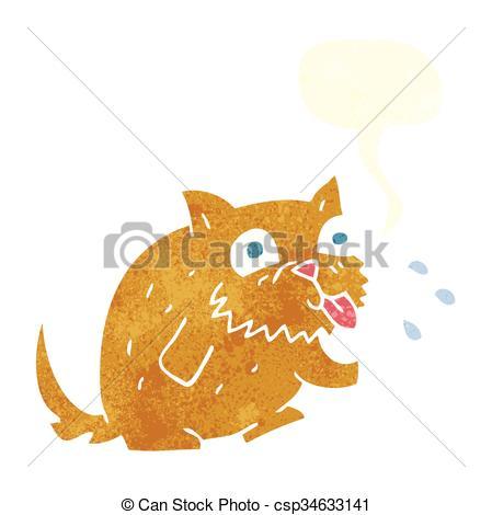 retro speech bubble cartoon cat blowing raspberry.