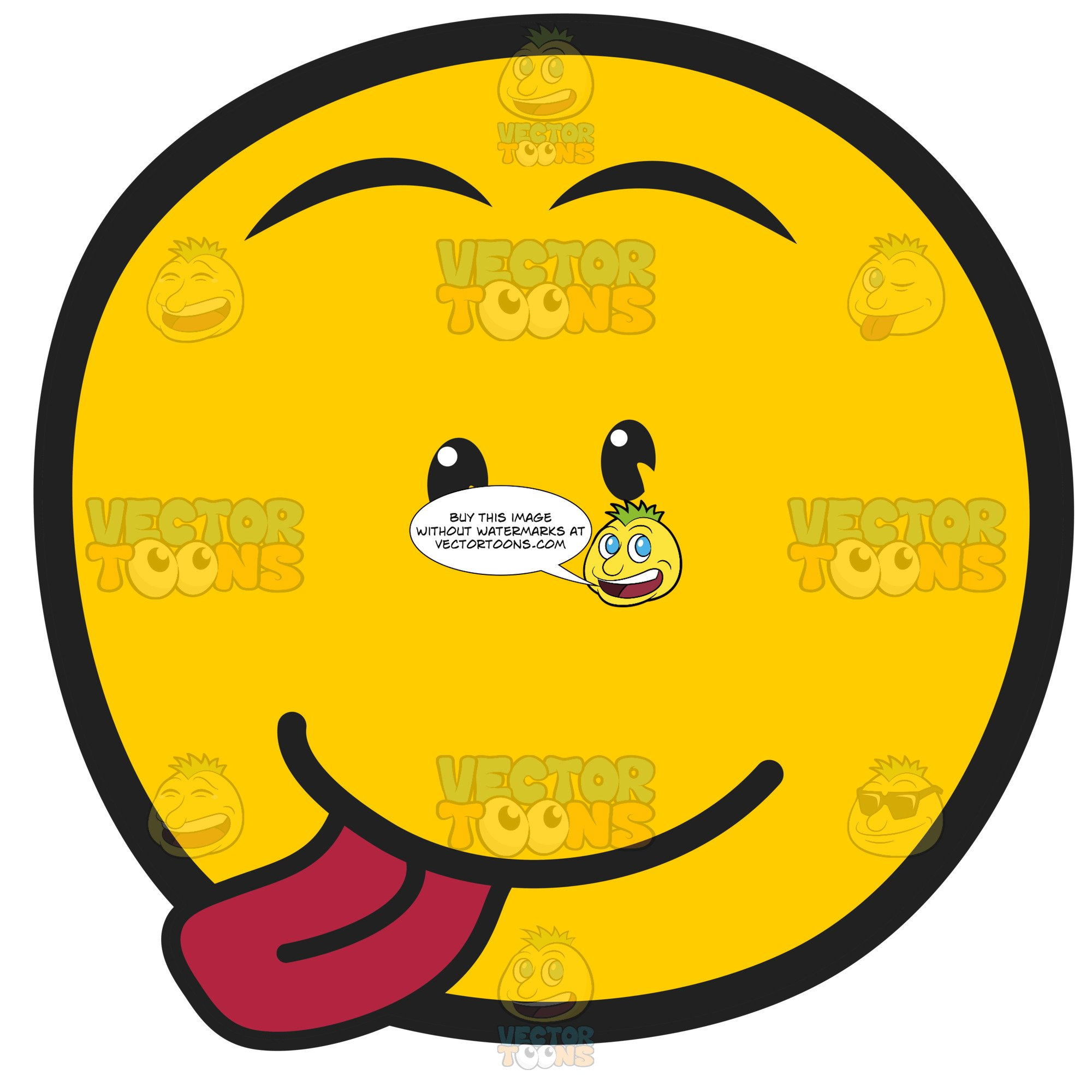 Yellow Smily Emoticon With Raspberry Blowing Tongue Out Silly Expression.