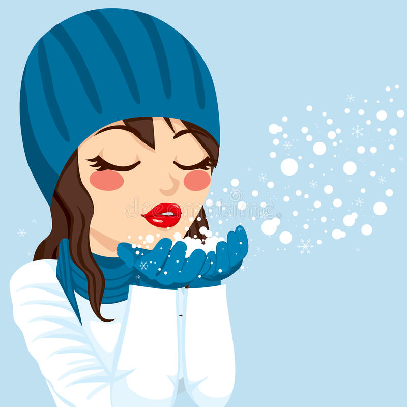 Blowing Snow Stock Illustrations.