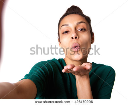 Blowing Kisses Stock Photos, Royalty.
