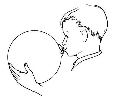 Blowing balloon clipart.