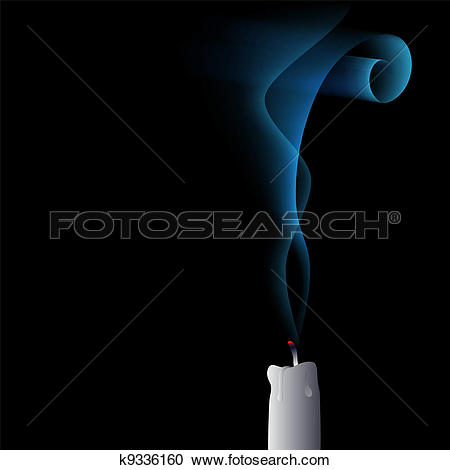 Clipart of vector blown out candle k9336160.
