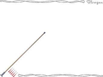 Blowgun, Blowpipe, Blow tube clipart / Free clip art.