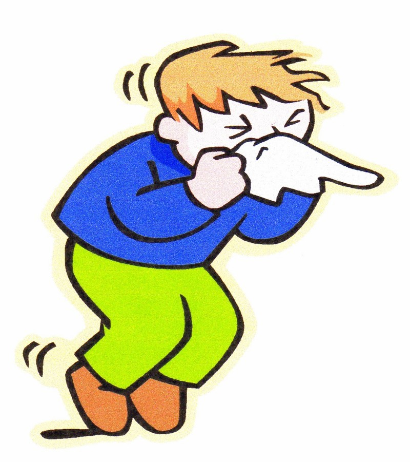 Blowing Nose Clipart.
