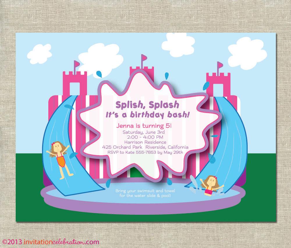 Blow Up Water Slide Clipart Girl Water Slide Birthday #IMeq9R.