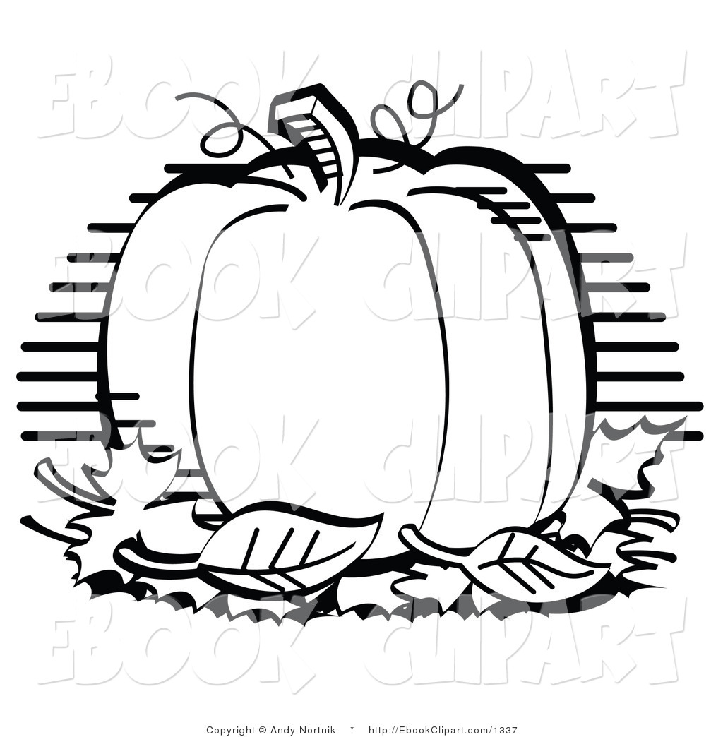 Black and white clipart blow up pumpkin.