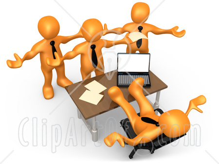 Clip Art Employees Work Clipart.