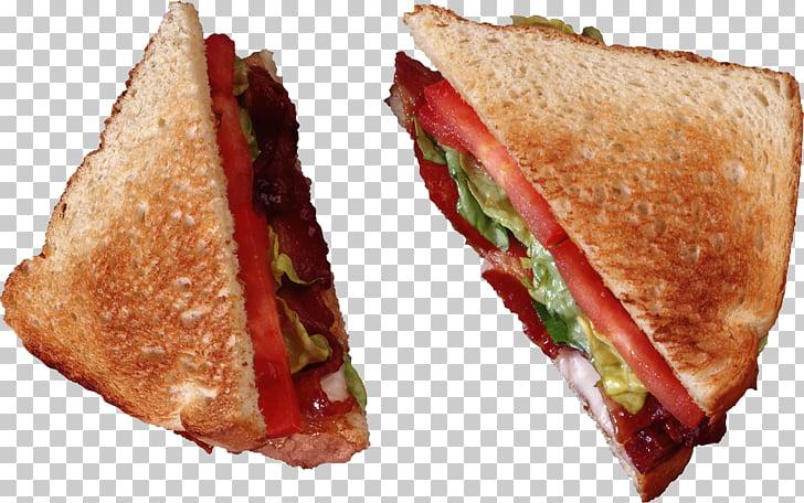Hamburger Bacon sandwich BLT, Sandwich PNG clipart.