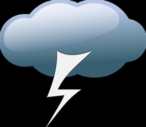 Blitz mit wolke clipart.