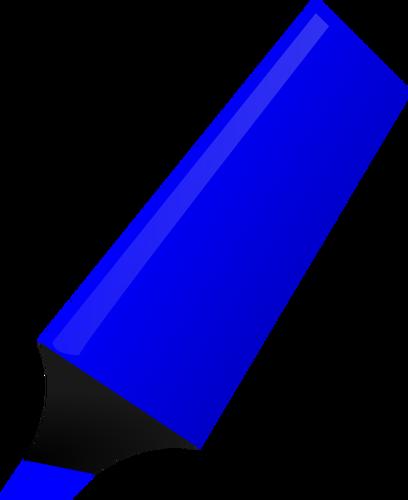 ClipArt vettoriali di evidenziatore blu.