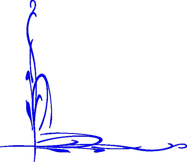 Fiore Stilizzato Blu Clip Art at Clker.com.