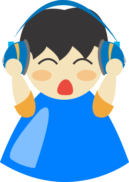 Headphone Blu Boy Clip Art at Clker.com.