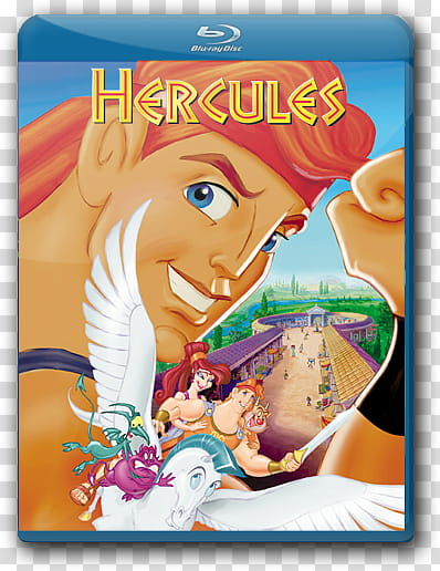 Disney Blu Ray Cover Icon , hercules transparent background.