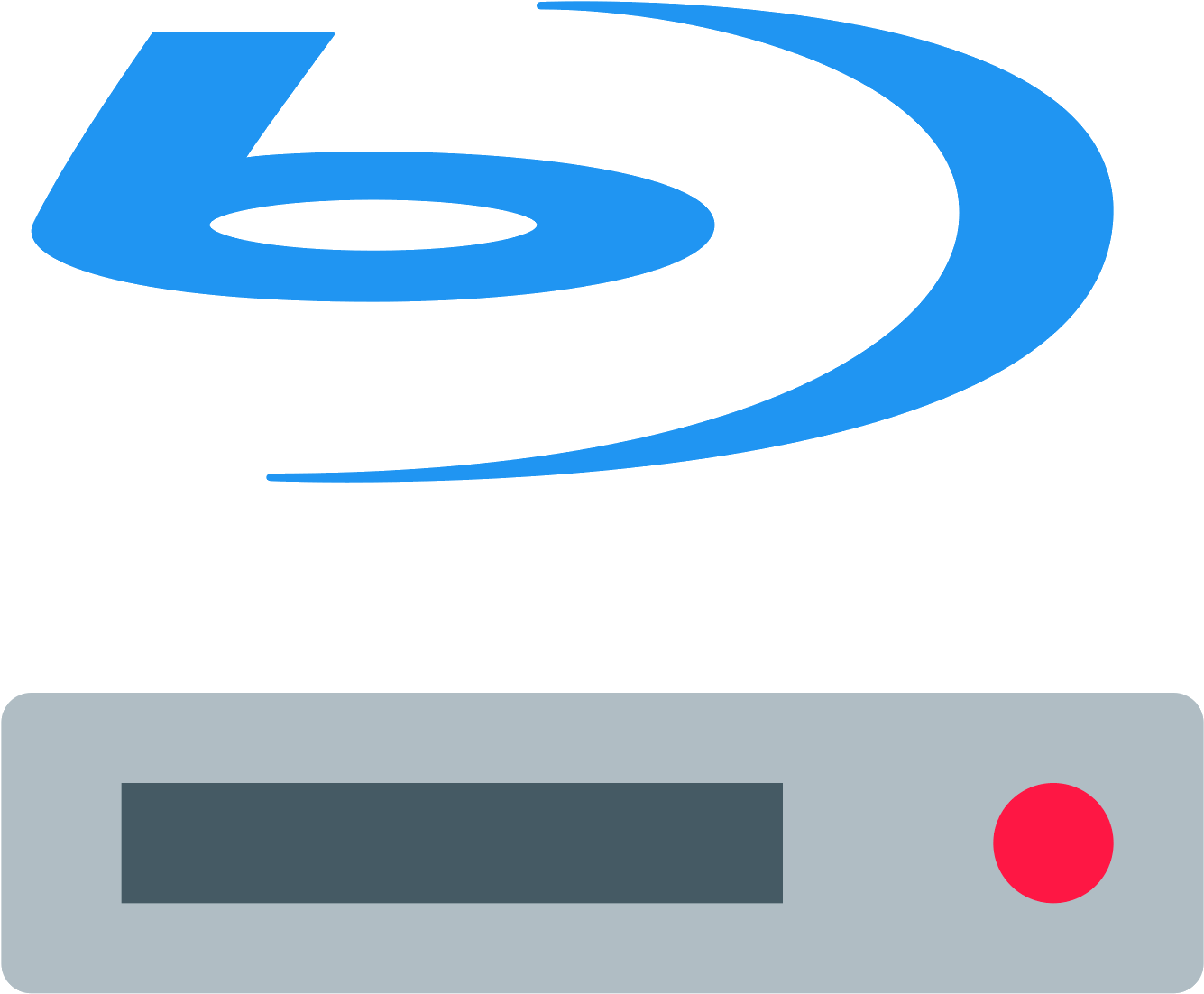 Blu Ray Disc Player Icon Clipart.