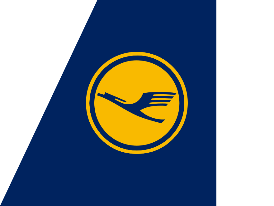 Yellow and Blue Airline Logo.