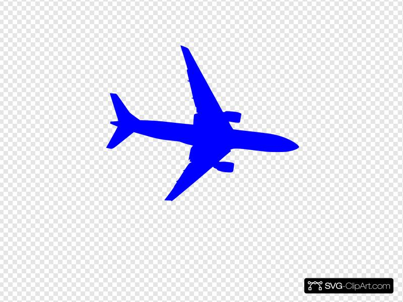 Blue Plane Clip art, Icon and SVG.