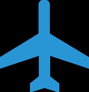 Blue Airplane Clipart.