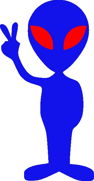 Blue alien clipart 5 » Clipart Station.