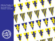 blue and gold banquet clipart #11