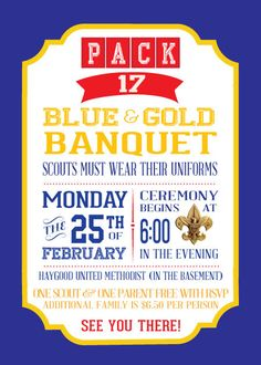 Free Printable Blue & Gold/Cub Scout Printable pack. Includes.
