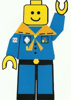 Lego * Cub Scout Coloring Page.