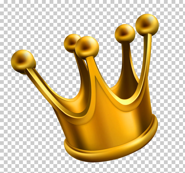 Crown , Golden Crown , gold crown on blue background.
