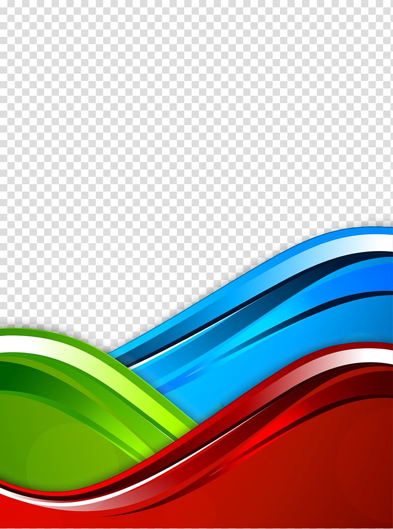 Blue RGB color model, Curve Background, blue, green, and red.