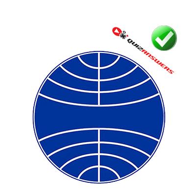 Circular White Globe Logo.