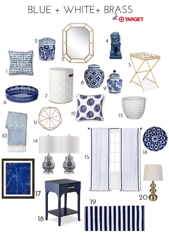 Blue & White Accessory Finds At Target.