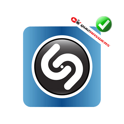 Black and White with Blue Circle Logo.