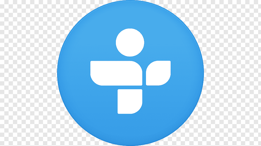 Blue and white logo, blue symbol line, Tunein free png.