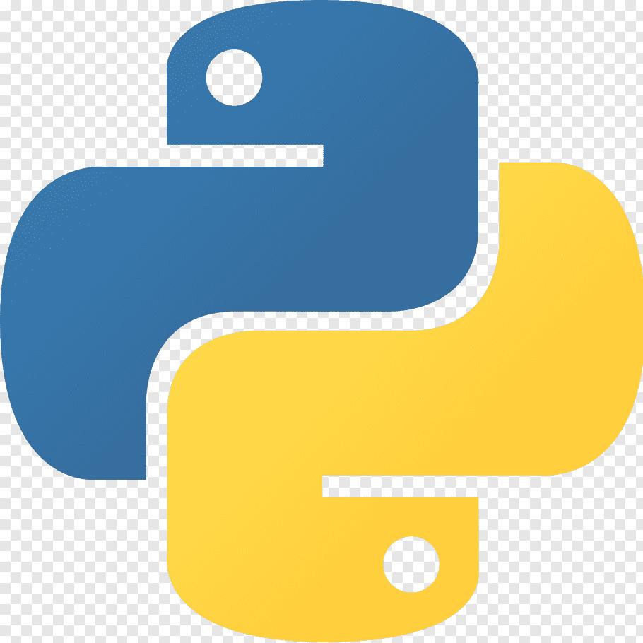 Blue and yellow logo, Python Logo Programmer, Fierce Python.