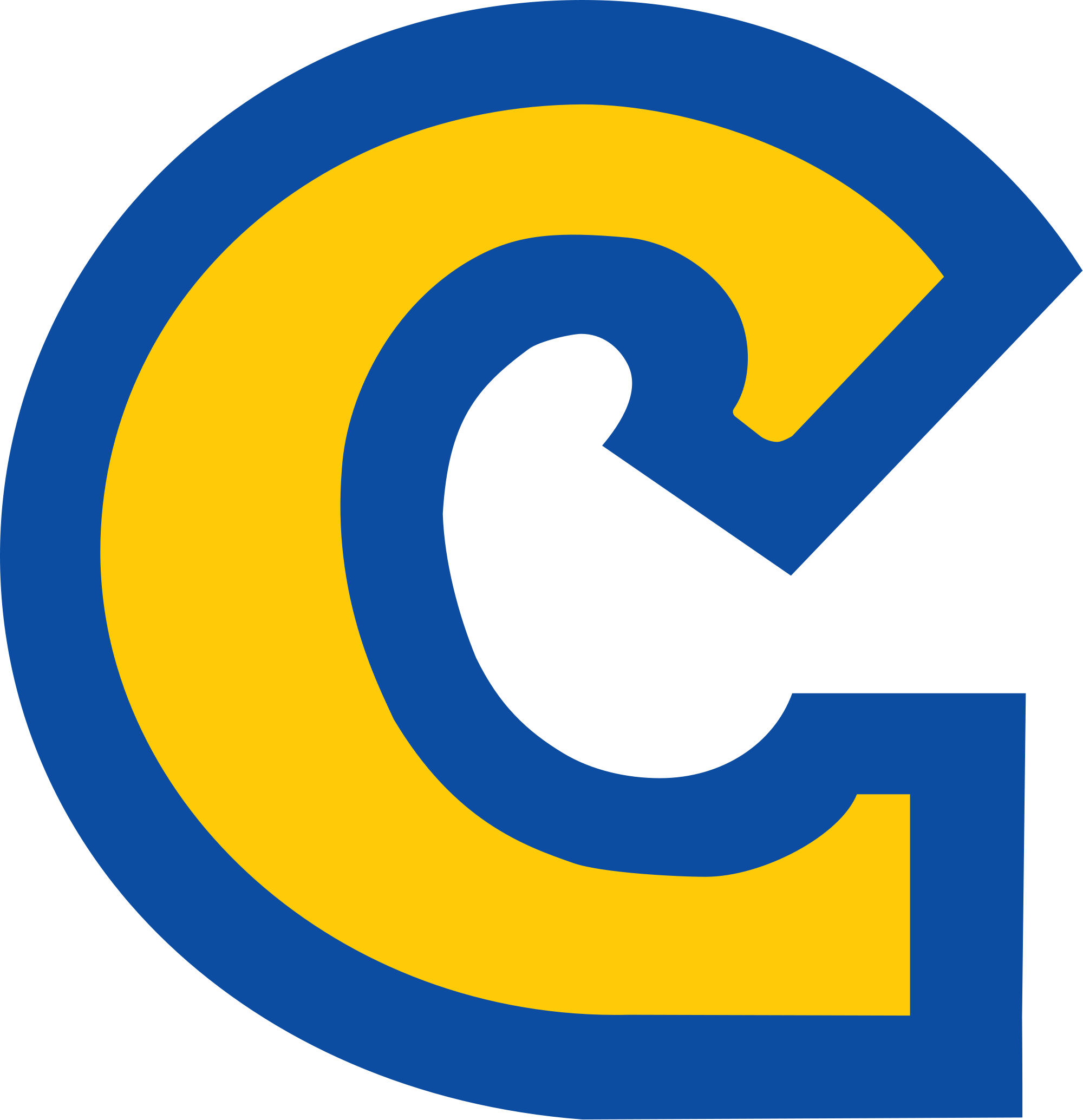 Blue and yellow c Logos.